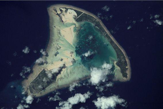 Kiribati's Aranuka atoll (NASA)